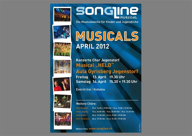 Konzertflyer Songline