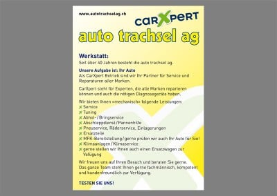 Flyer Garage Trachsel