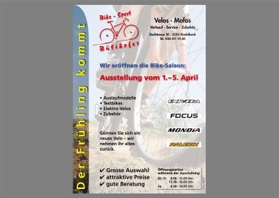 Flyer Velo Bütikofer