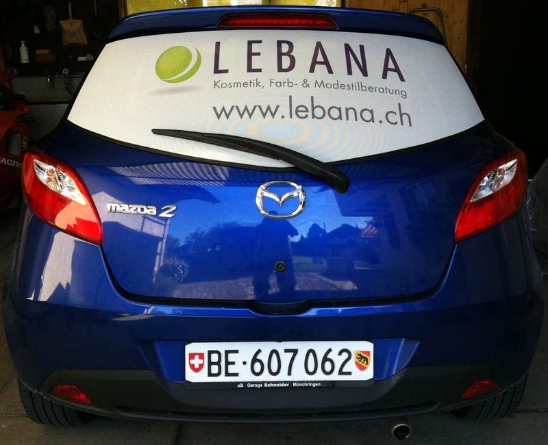 Beschriftung Lebana GmbH