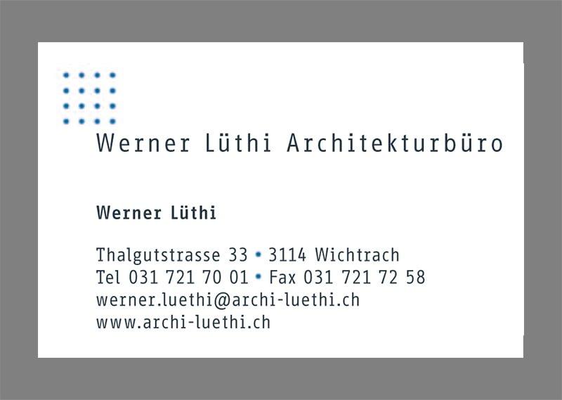 Visitenkarte Architektur Lüthi
