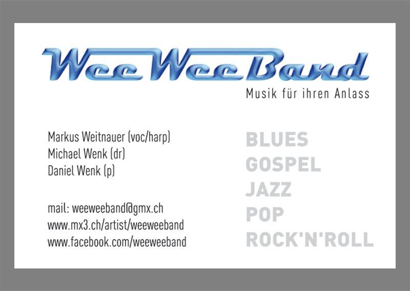 Visitenkarte WeeWeeBand
