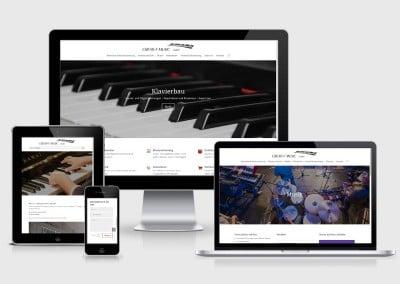 Webauftritt Creati-F-Music