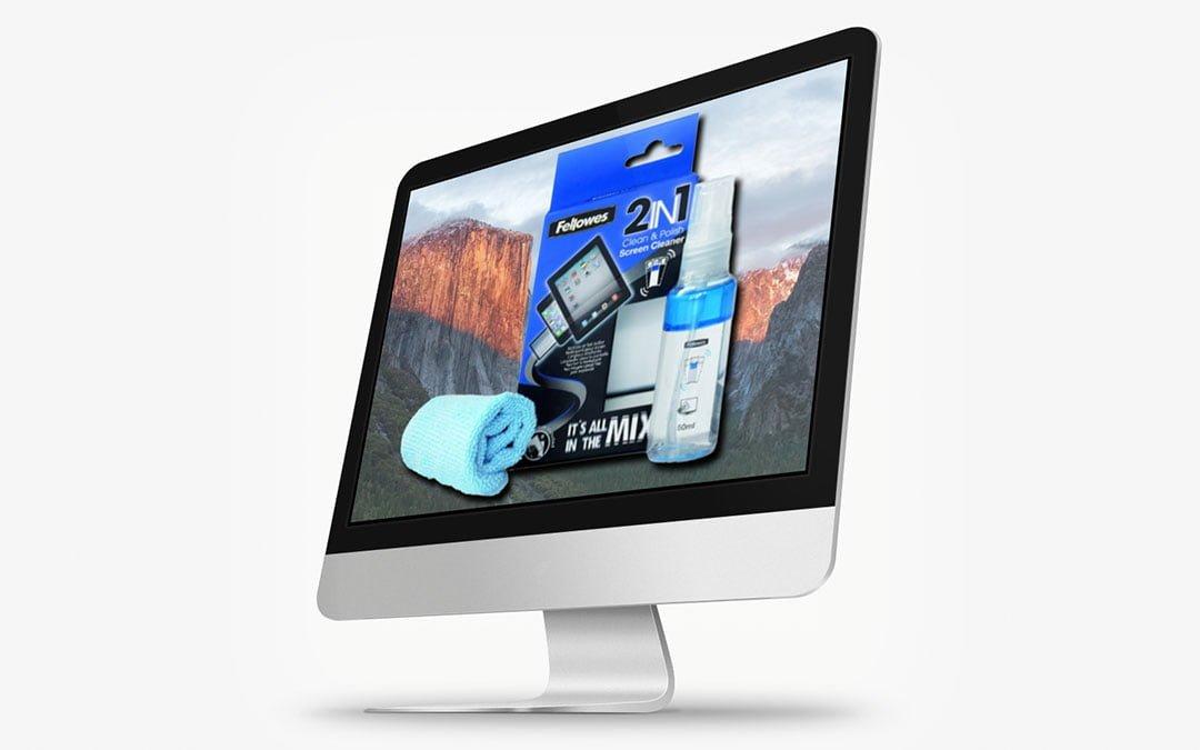 Kostenloser Bildschirmreiniger zu jedem Mac