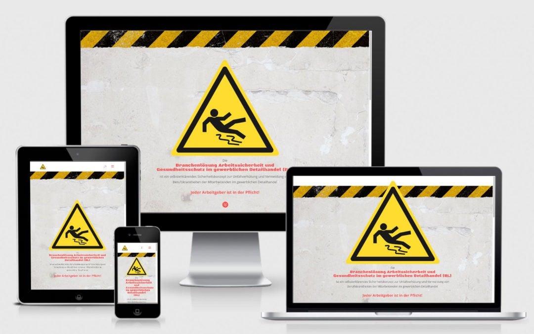 Webauftritt Arbeitssicherheit Detailhandel