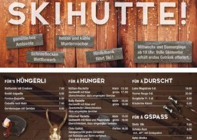 Flyer Skihütte Café Füürio